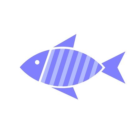 vector art: Blue fish. Vector illustration Illustration