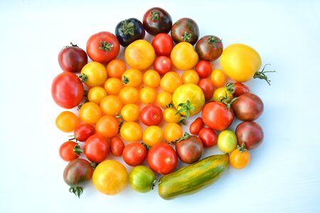 heirloom: Colorful heirloom tomatoes