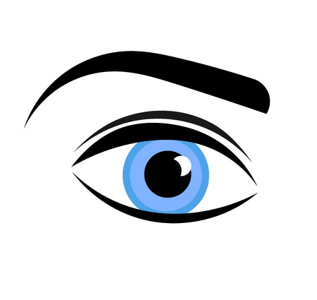 blue eye: Blue woman eye. Vector illustration Illustration