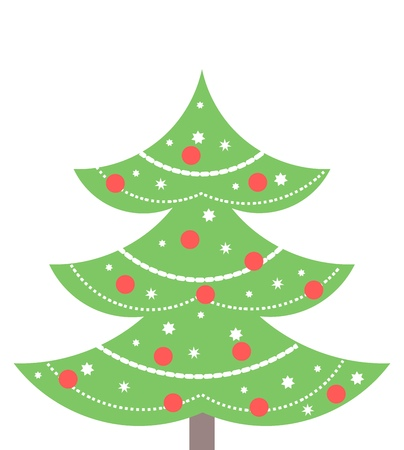 ball chains: Christmas tree. Vector illustration