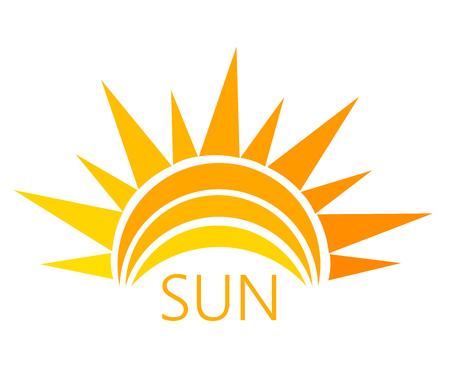 luz solar: Símbolo sol. Ilustração do vetor Ilustração