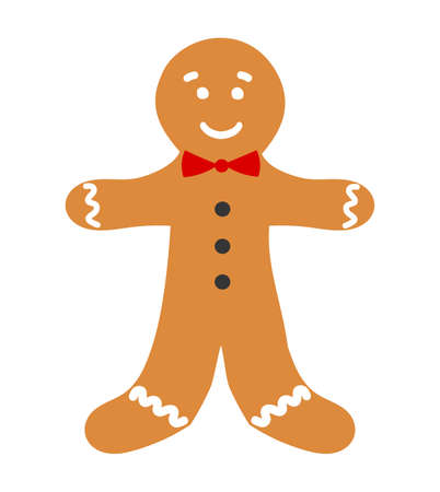men cartoon: Gingerbread man. Vector illustration