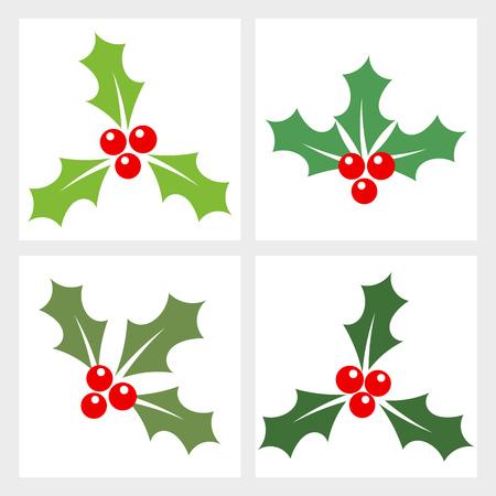 Holly bessen collectie. vector illustratie