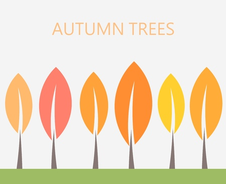 vector art: Autumn trees. Vector illustration Illustration