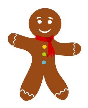 gingerbread man: Gingerbread man. Vector illustration