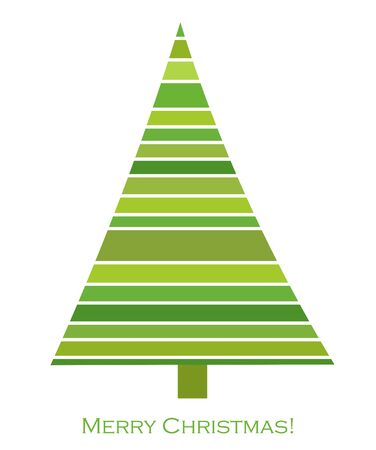 christmas tree illustration: Green Christmas tree. Vector illustration Illustration