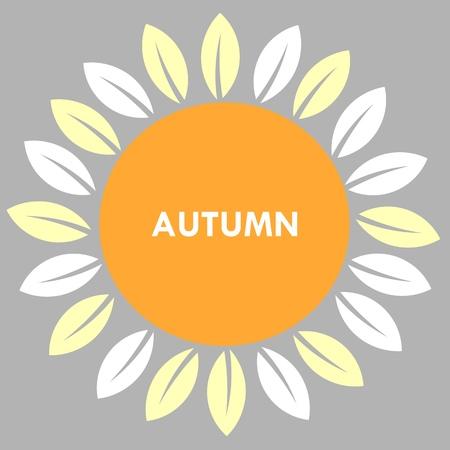 sun flower: Autumn sun flower background. Vector illustration