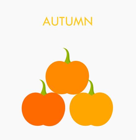 calabaza caricatura: Calabazas de otoño pila. ilustración vectorial Vectores