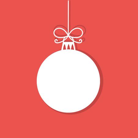 Pallina di Natale modifica bianca. Illustrazione vettoriale Archivio Fotografico - 48138112