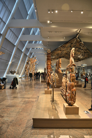 sculpture: NEW YORK CITY - OCTOBER 22, 2014: Exhibition of  Arts of Africa, Oceania, and the Americas at Metropolitan Museum of Art. The Met is the largest art museum in the United States