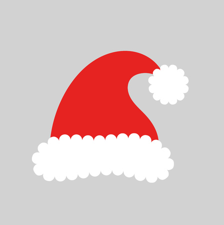 clothes cartoon: Santa claus hat. Vector illustration