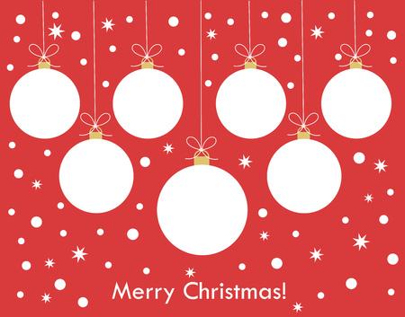 Christmas balls decoration, Vector illustration