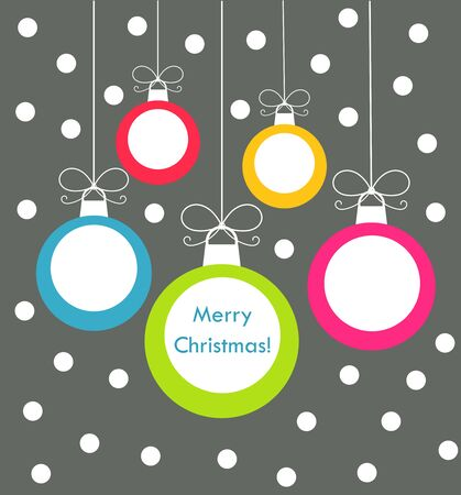 christmas baubles: Christmas baubles card. Vector illustration