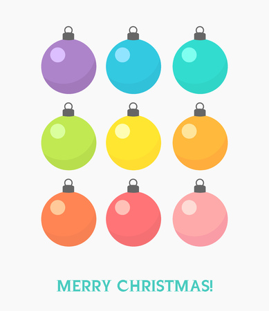 ornaments vector: Set of Christmas baubles ornaments. Vector illustration