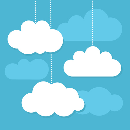 white clouds: White clouds and blue sky. Vector illustration