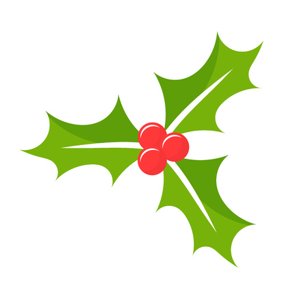 Christmas Holly berry. Vector illustration  イラスト・ベクター素材