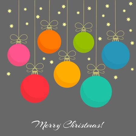 christmas baubles: Christmas colorful baubles background. Vector illustration