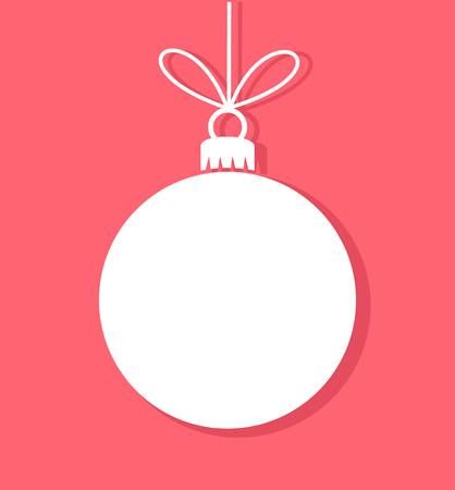 navidad: Ha de Navidad etiqueta blanca. Ilustraci�n vectorial