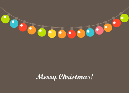 lights: Christmas lights background. Vector illustration