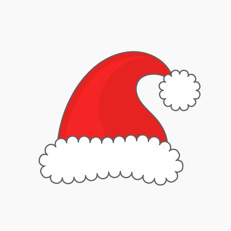 hat santa: Santa claus hat. Vector illustration