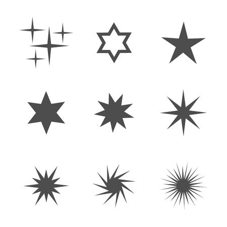 4 star: Set of stars icons. Vector illustration
