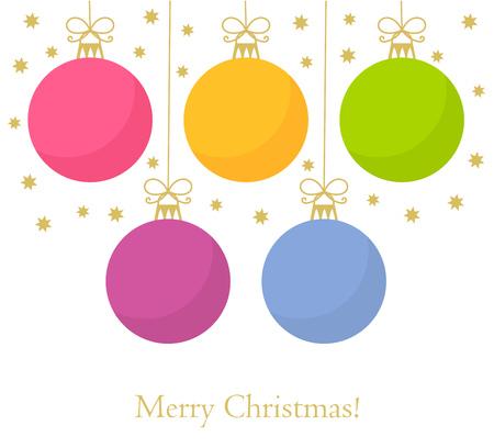 Christmas baubles background. Vector illustration  イラスト・ベクター素材