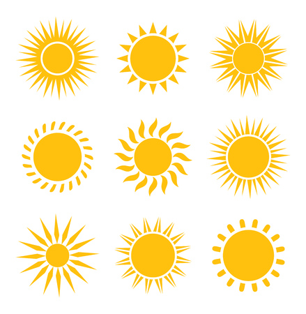 the sun: Sun icons collection. Vector illustration