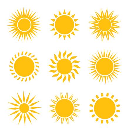 bright sun: Sun icons collection. Vector illustration