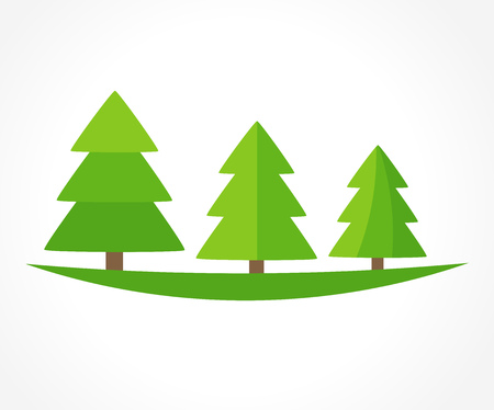 trees illustration: Christmas trees. Vector illustration