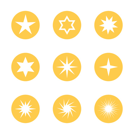 4 star: Stars icons collections. Vector illustration Illustration