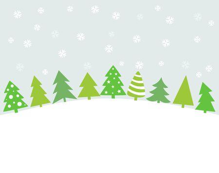 trees illustration: Christmas trees background card. Vector illustration Illustration