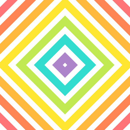 geometric lines: Colorful abstract rainbow geometric pattern. Vector illustration
