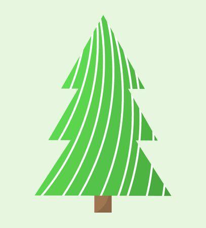 christmas tree illustration: Simple green Christmas tree. Vector illustration Illustration