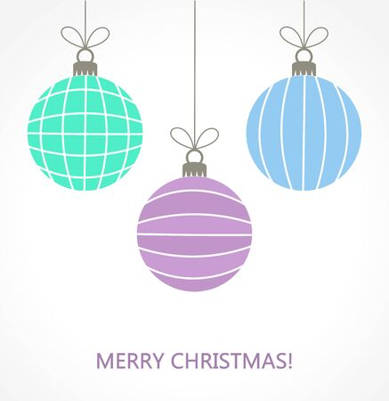 baubles: Christmas baubles ornaments illustration Illustration