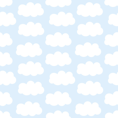 is cloudy: Clouds seamless pattern. illustration