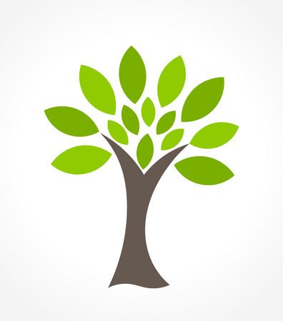 tree symbol: Green tree symbol. illustration