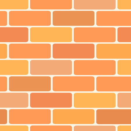 plaster wall: Brick wall tiles. illustration