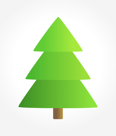 christmas tree illustration: Simple Christmas tree illustration