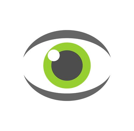 green eye: Green eye icon. Vector illustration Illustration