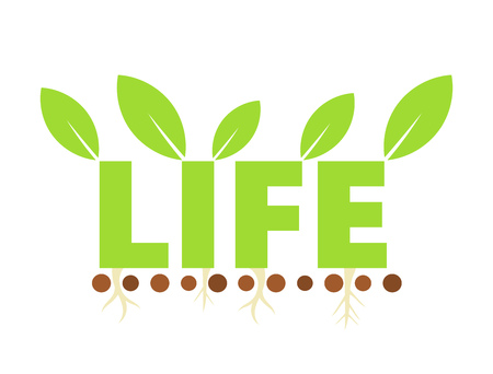 spring balance: Eco life symbol. Vector illustration