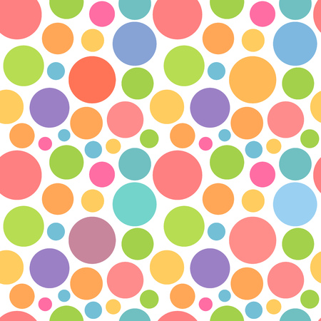 pastel background: Colorful dots pattern. Vector illustration Illustration