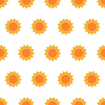 sunbeam background: Cute suns seamless pattern. Vector illustration Illustration