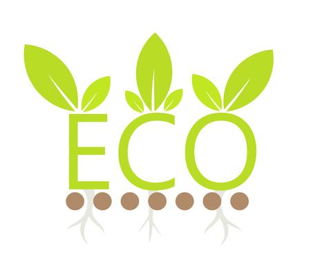 germinate: Green eco symbol concept. Vector illustration