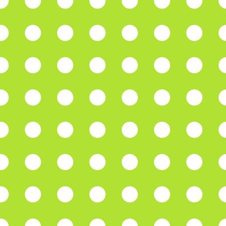 pastel colour: White polka dot pattern on green background