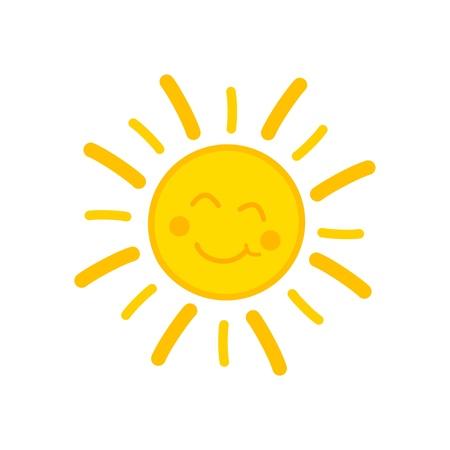 Smiling sun. Stock Illustratie