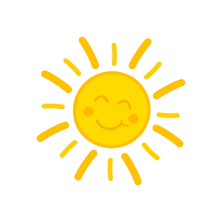 Smiling sun. Illustration
