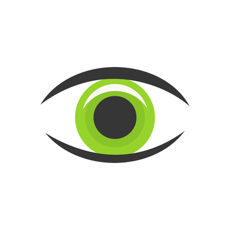 green eye: Green eye icon.