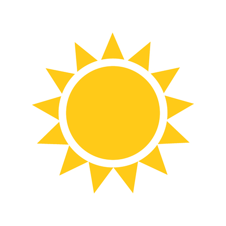 태양 아이콘. 일러스트