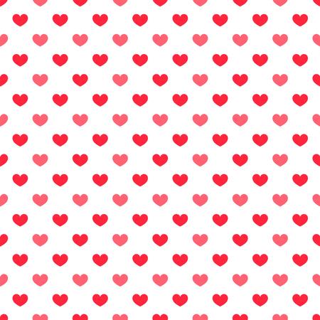 Rote Herzen nahtlose Muster. Vektorgrafik