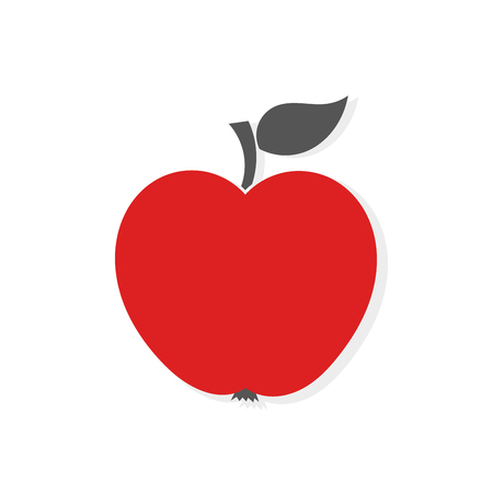red apple: Red apple icon illustration